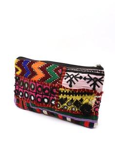 Pochette bohème colorée -  Mosaik bijoux indiens