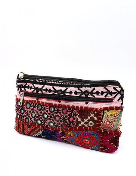 Trousse en tissu coloré -  Mosaik bijoux indiens
