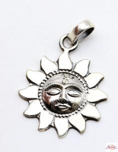 Pendentif en argent soleil