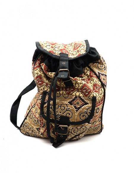 5bc1274297 Sac à dos ethnique marron - boutique Mosaik - S34