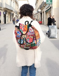 Gros sac à dos patchwork 2