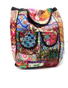 Gros sac à dos patchwork