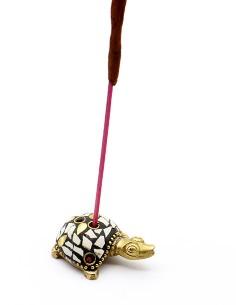 Porte encens tortue en laiton 2