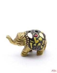 Porte encens éléphant doré...
