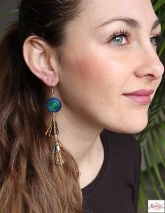 Boucles d'oreilles pompons 2