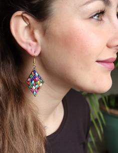 Boucles d'oreilles losanges... 2