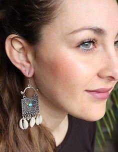 Boucles d'oreilles à cauris 2