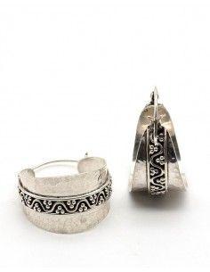 Créoles argent ethniques indiennes -  Mosaik bijoux indiens 2