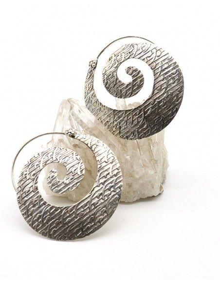 Boucles d'oreilles argent spirales -  Mosaik bijoux indiens
