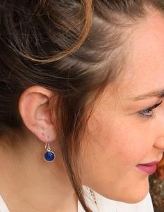 Boucles lapis lazuli sur... 2