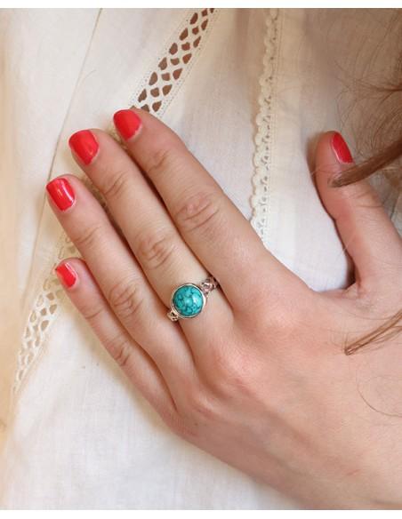 Bague turquoise - Mosaik bijoux indiens