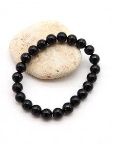 Bracelet onyx perles rondes...