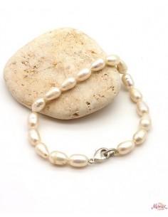 Bracelet nacre blanche - Mosaik bijoux indiens