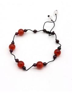 Bracelet pierres Cornaline...