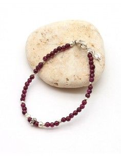 Bracelet perles argent et...