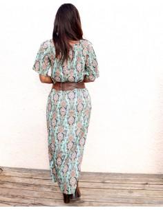 Robe longue à lacet motifs... 2