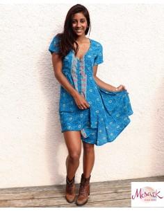 Robe courte tissu sari...