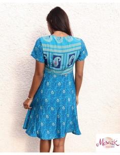Robe courte tissu sari... 2