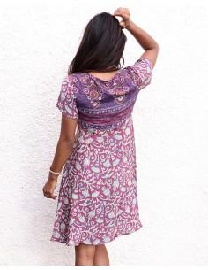 Robe courte en tissu sari... 2