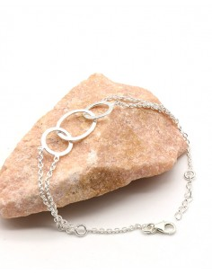 Bracelet argent triple anneaux
