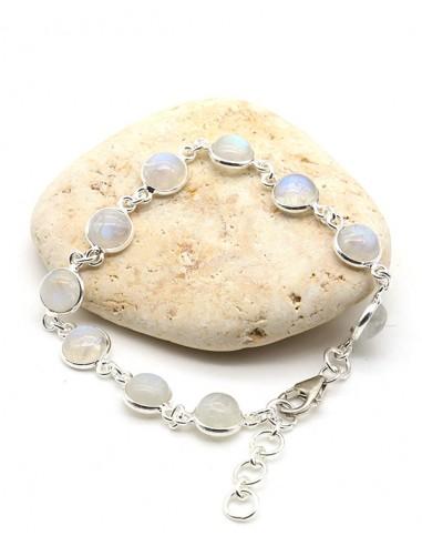 bracelet argent pierre de lune