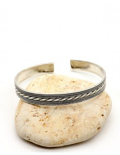 Bracelet en argent ethnique