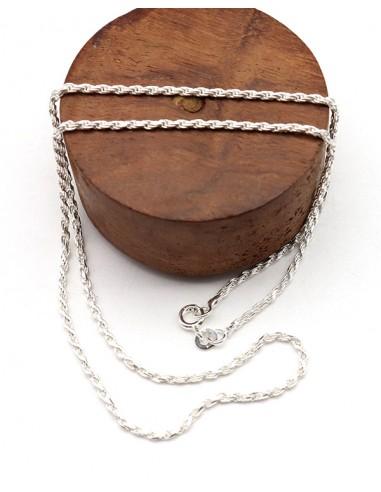 Chaîne torsadée en argent - Mosaik bijoux indiens
