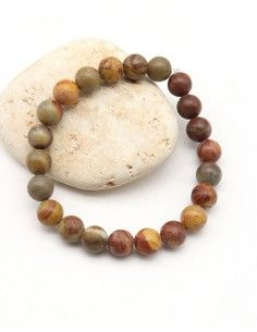 Bracelet élastique agate - Mosaik bijoux indiens
