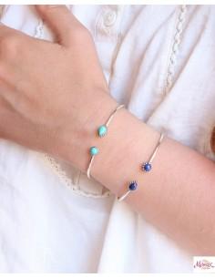 Bracelet argent et 2 Lapis... 2