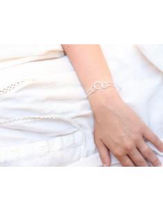 Bracelet argent triple anneaux 2