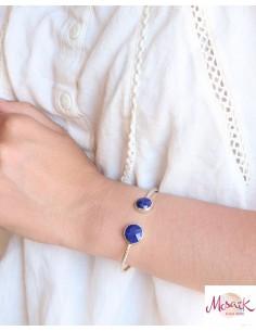 Bracelet argent et Lapis... 2