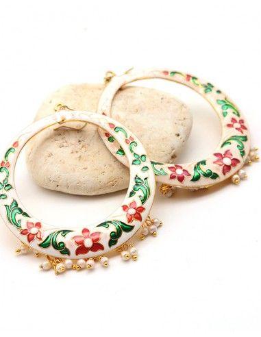 Boucles d'oreilles bohèmes indiennes - Mosaik bijoux indiens