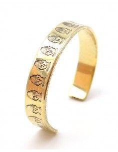 Bracelet manchette dorée...
