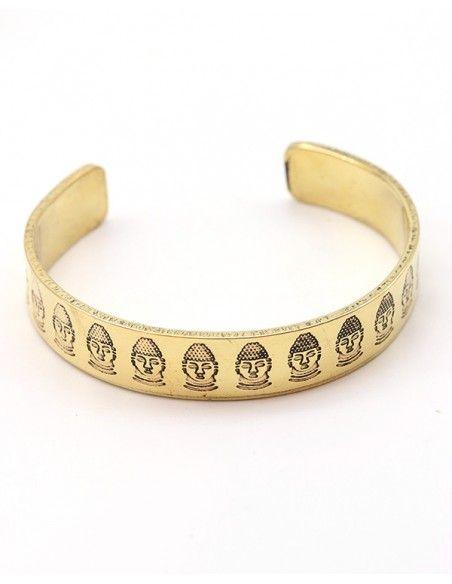 Bracelet doré fin tête de bouddha - Mosaik bijoux indiens
