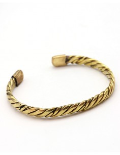 Bracelet tressé doré en laiton