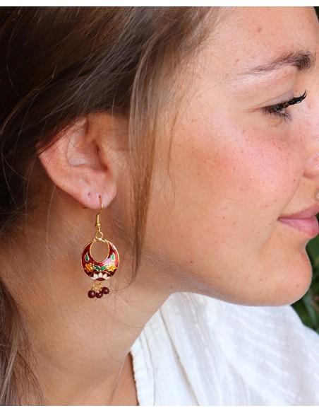 Boucles d'oreilles gyspy - Mosaik bijoux indiens