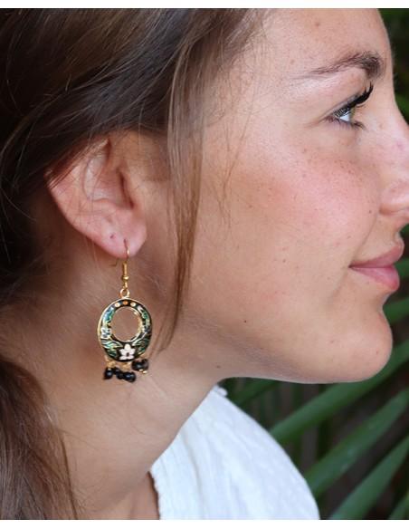 Boucle d'oreille gypsy à grelots - Mosaik bijoux indiens
