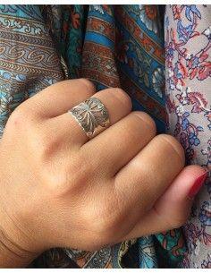 Anneau argent travaillé - Mosaik bijoux indiens 2