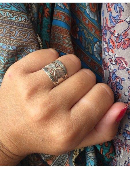Anneau argent - Mosaik bijoux indiens