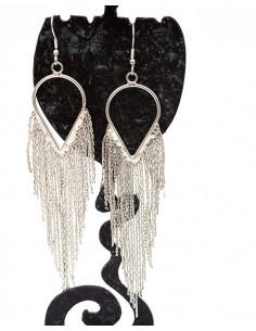 Boucles d'oreilles de fête argentées - Mosaik bijoux indiens