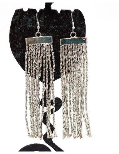 Boucles d'oreilles argentées de fête - Mosaik bijoux indiens