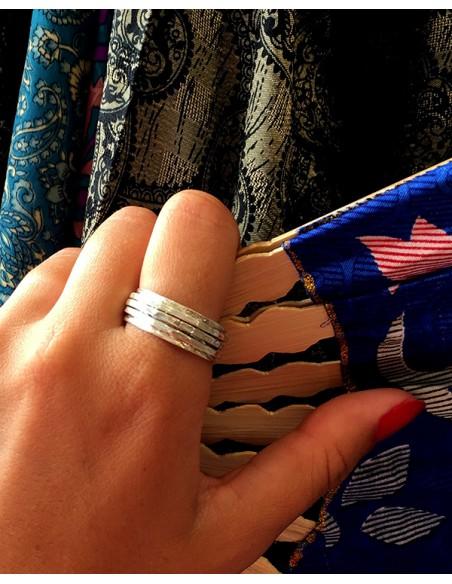 Anneau argent anti-stress - Mosaik bijoux indiens