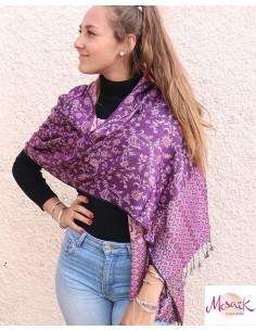 Etole rose et violette - Mosaik bijoux indiens