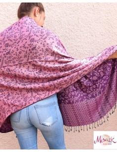 Etole rose et violette - Mosaik bijoux indiens 2