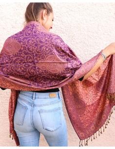 Etole violette et orange - Mosaik bijoux indiens