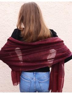 Echarpe en laine violette... 2