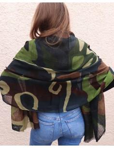 Echarpe en laine camouflage 2