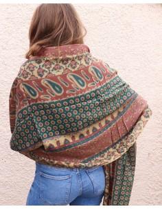 Echarpe laine marron - Mosaik bijoux indiens 2