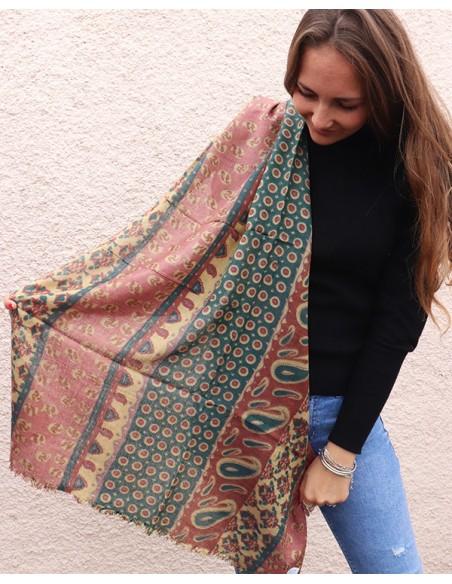 Echarpe douce en laine - Mosaik bijoux indiens