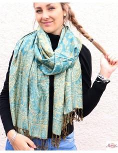 Etole turquoise et jaune - Mosaik bijoux indiens